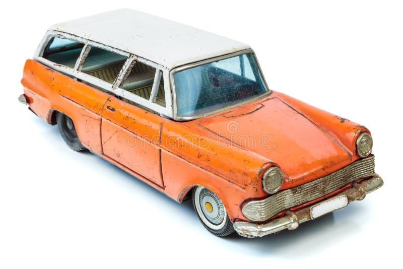Klassisches Miniaturfamilie combi Auto lokalisiert auf Weiß stockfotos