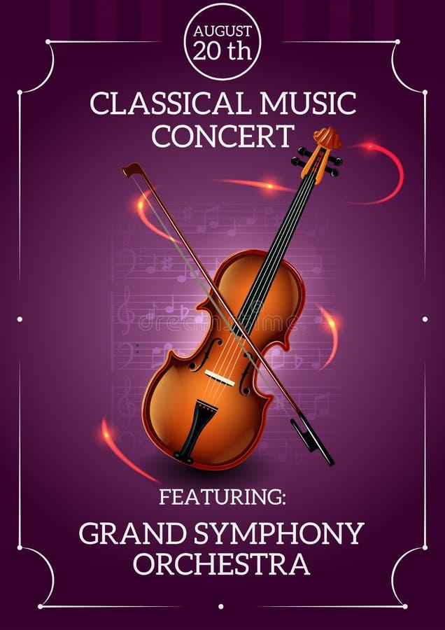 Klassisches Musik-Plakat vektor abbildung