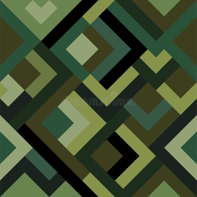 Klassisches nahtloses Muster mit digitaler Pixeltarnung Camo-Druckhintergrund für städtischen modernen Modegewebeentwurf vektor abbildung