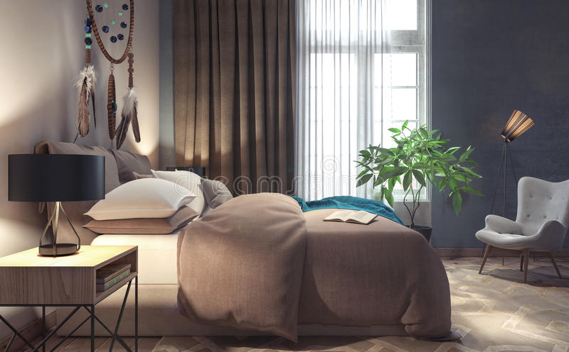 Klassisches Schlafzimmerdesign stock abbildung