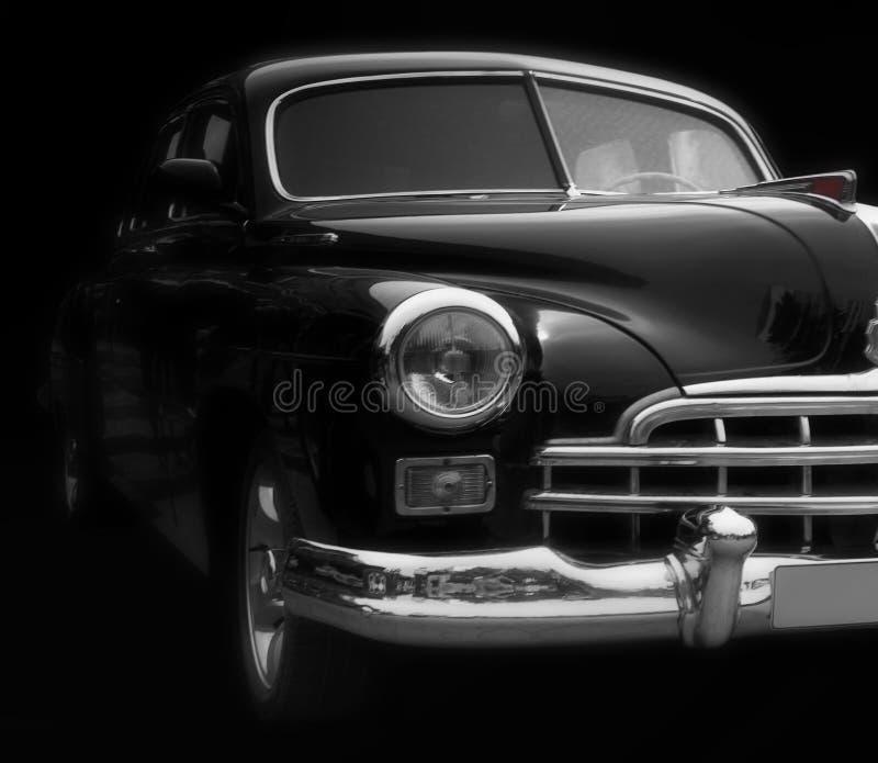 Klassisches schwarzes Auto lizenzfreie stockfotografie