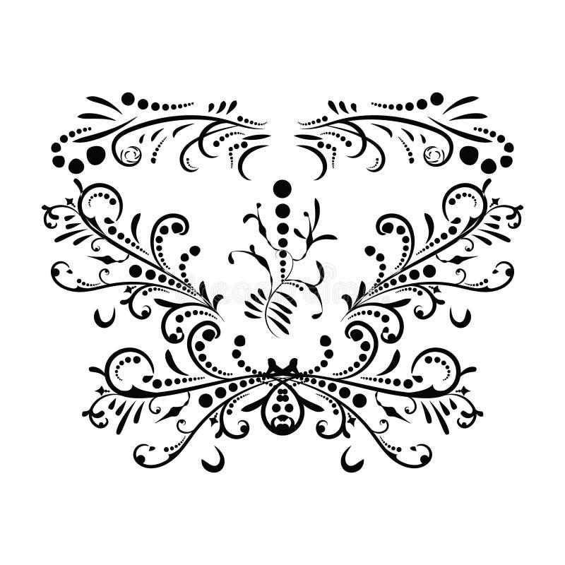 Klassisches schwarzes Muster. Damast-Ornament. Vintage lizenzfreie abbildung