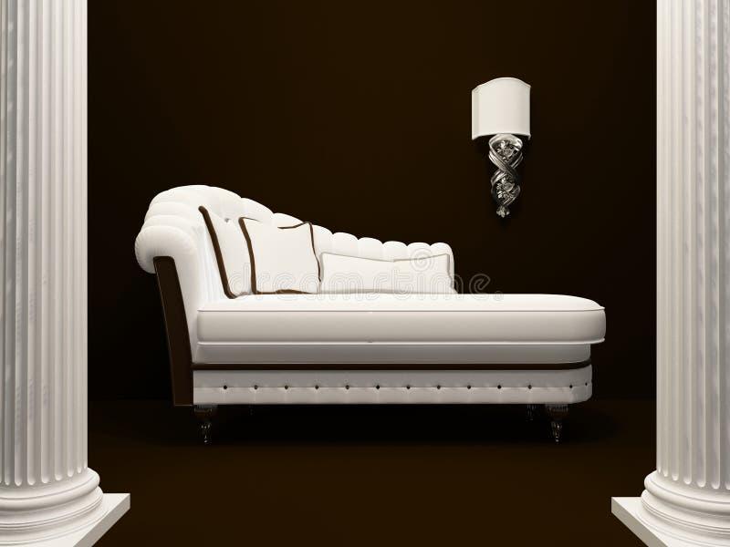 Klassisches Sofa Mitten In Pfosten Stock Abbildung Illustration Von M Bel Aufbau 19014259