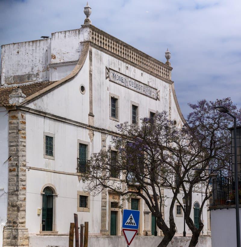 klassisches Theater von Faro-Stadt lizenzfreie stockfotos
