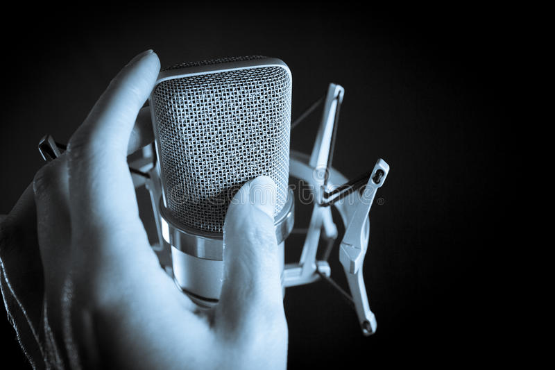 Klassisches Tonstudiomikrofon stockfotografie