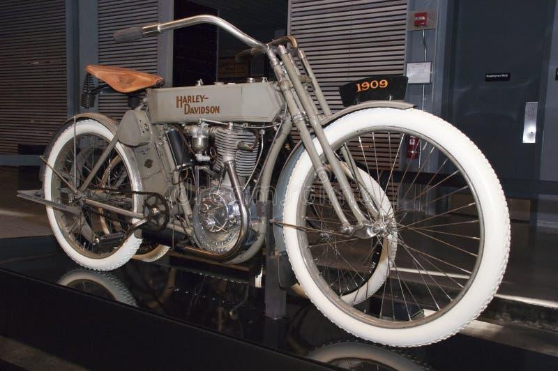 Klassisches Weinlese Harley Dasvidson Motorcyle Fahrrad lizenzfreie stockbilder