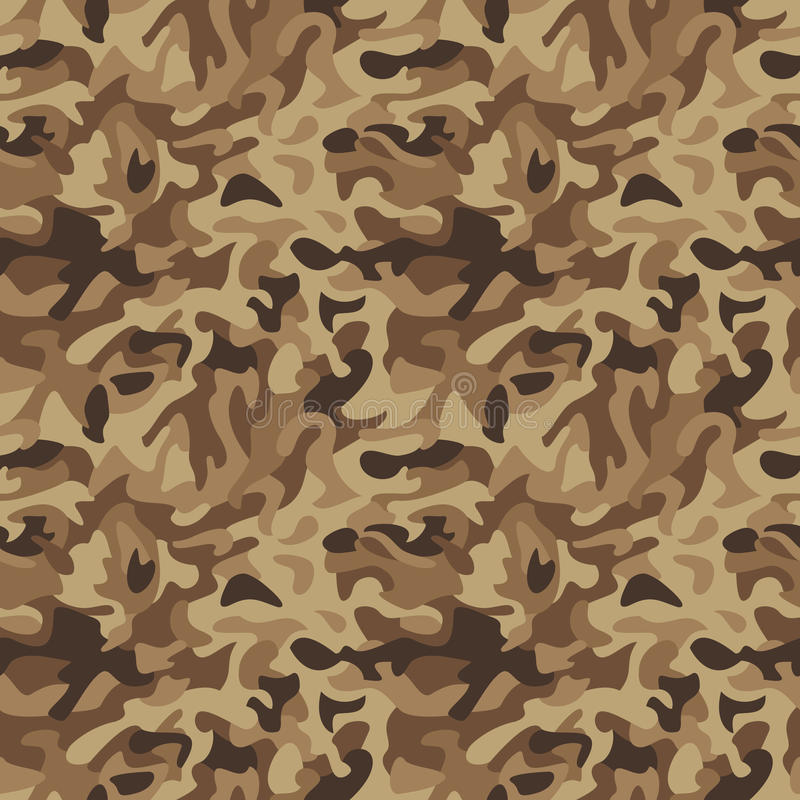 klassisk öken för kamouflage royaltyfri illustrationer