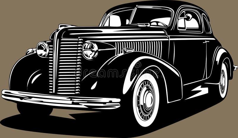 Klassisk amerikansk vindruteretro anpassad bil Buick stock illustrationer