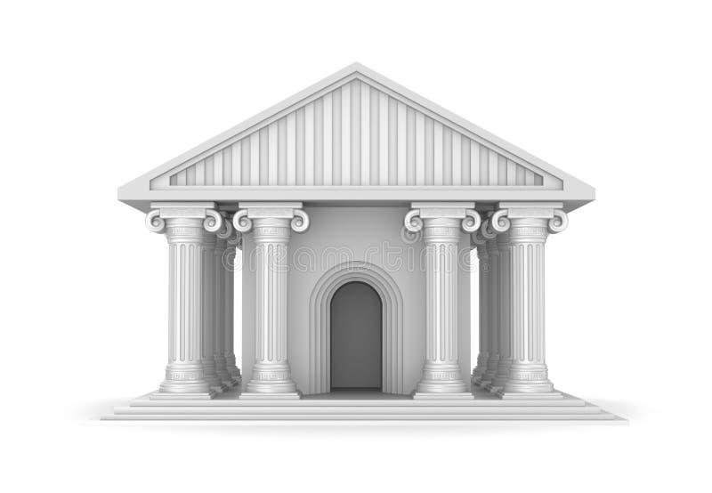 Klassisk antik grekisk tempel royaltyfri illustrationer