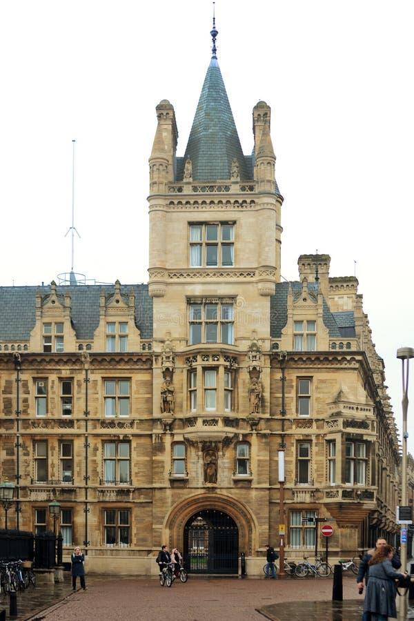 Klassisk arkitektur av England Cambridge royaltyfri foto