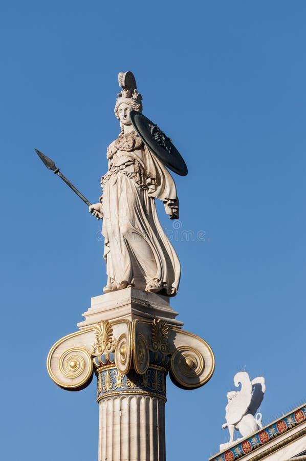 Klassisk Athena marmorstaty arkivbild