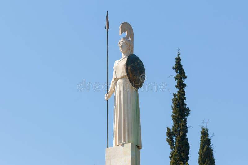 Klassisk Athena staty royaltyfri bild