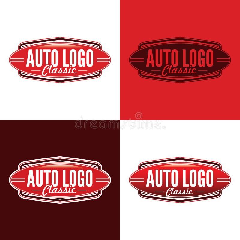 Klassisk auto logo - vektorillustration royaltyfri fotografi