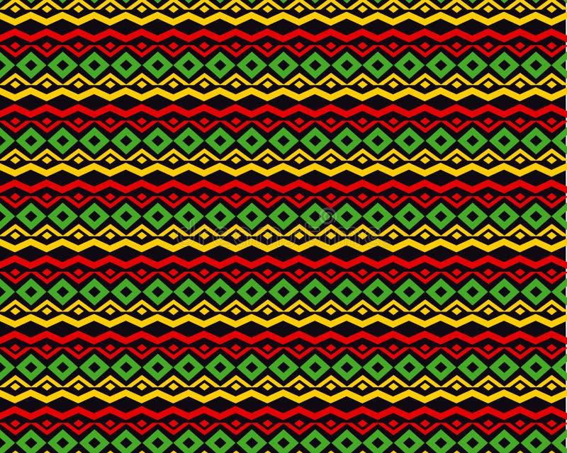 Klassisk bakgrund för reggaefärgmusik royaltyfri illustrationer