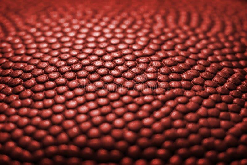 Klassisk bakgrund för textur för yttersida för läder för basketbolldetalj arkivbilder