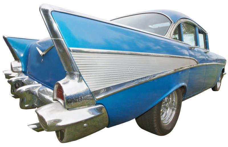 Klassisk bil, femtiotal, tappningsvanfena som isoleras royaltyfria bilder