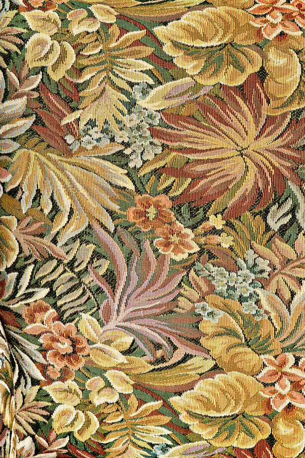 klassisk blom- utsmyckad modelltapestry royaltyfri fotografi