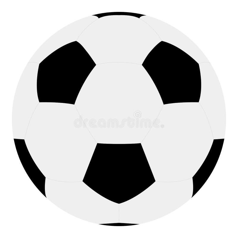 Klassisk boll f?r europeisk fotboll Konst f?r vektor f?r fotbollboll vektor illustrationer