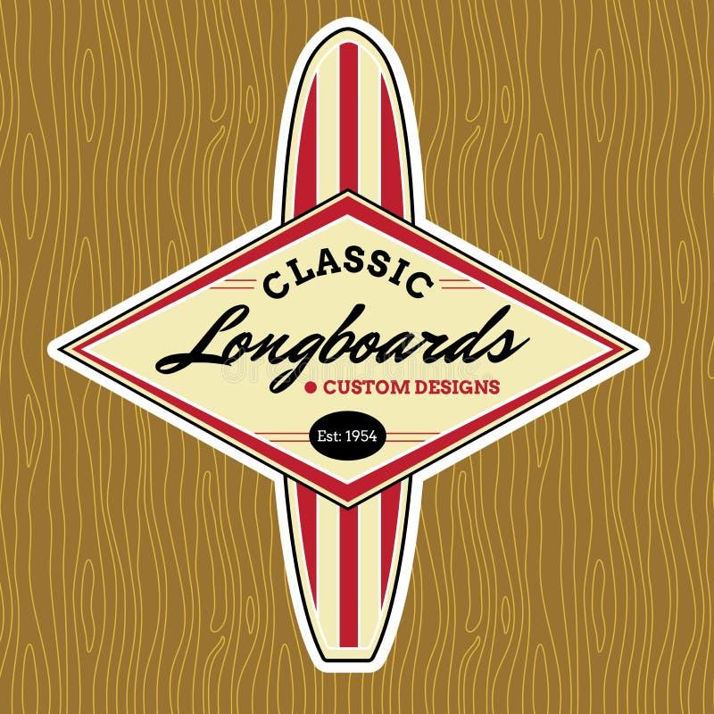 Klassisk bränning Logo Design royaltyfri illustrationer