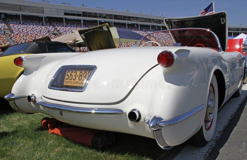 Klassisk Chevrolet Corvette bil fotografering för bildbyråer