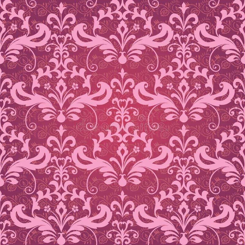 klassisk dekorativ seamless wallpaper royaltyfri illustrationer