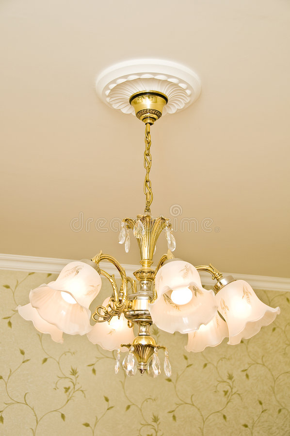 klassisk design för ljuskrona royaltyfri fotografi