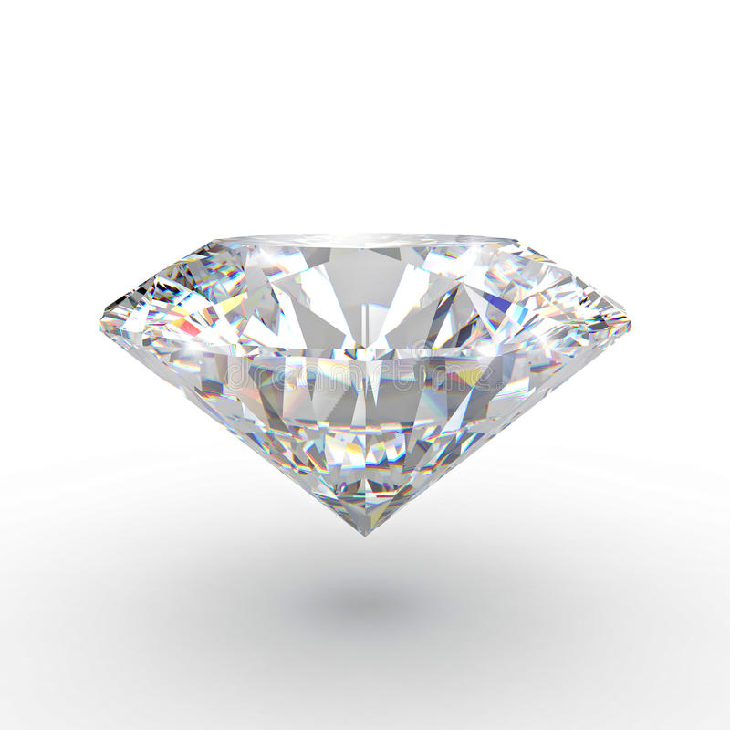 Klassisk diamant 3d royaltyfri illustrationer