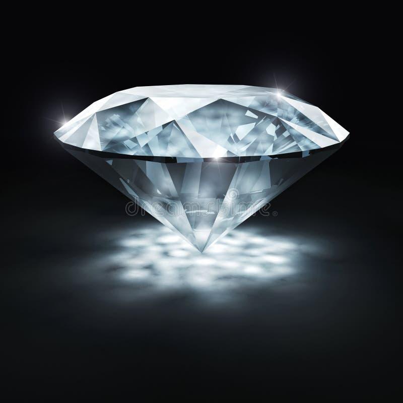 Klassisk diamant 3d stock illustrationer