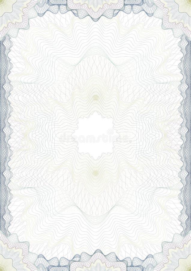 klassisk diplomguilloche för kant royaltyfri illustrationer