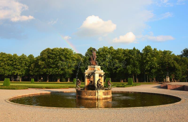 klassisk Europa springbrunn royaltyfria foton