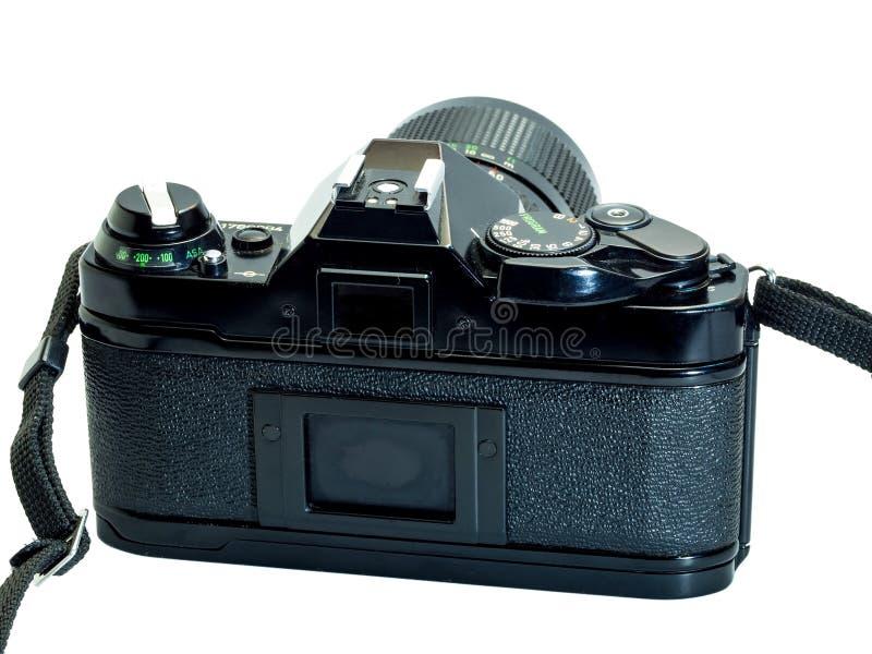 Klassisk filmkameraisolering på vit arkivfoto
