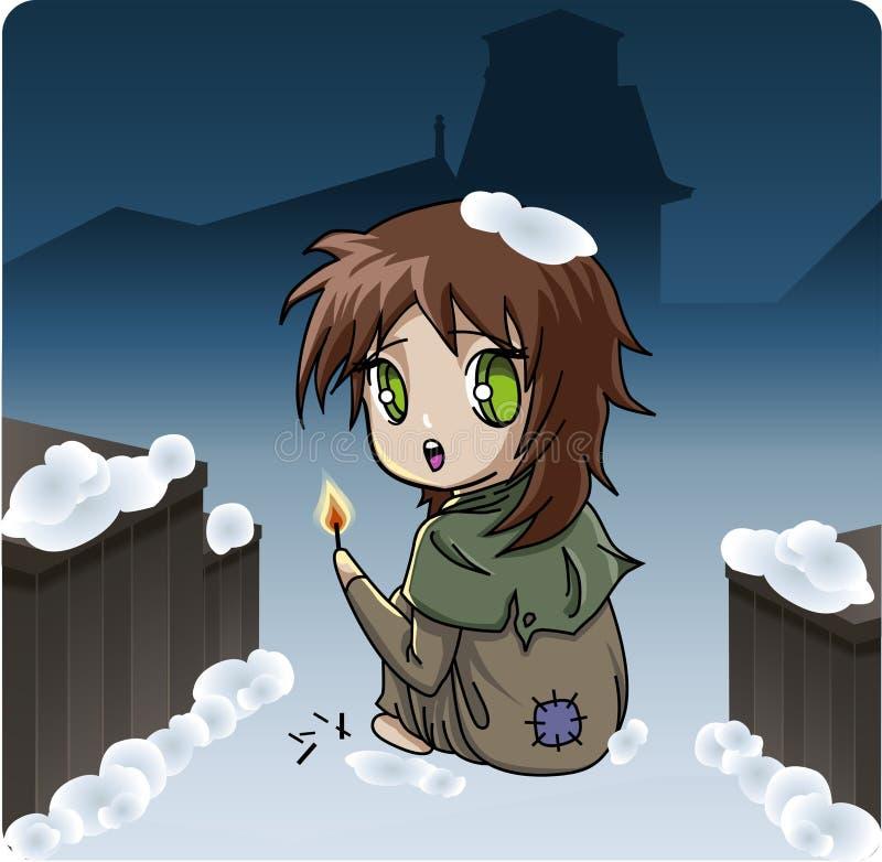 klassisk flicka för barn little berättelser för match s stock illustrationer