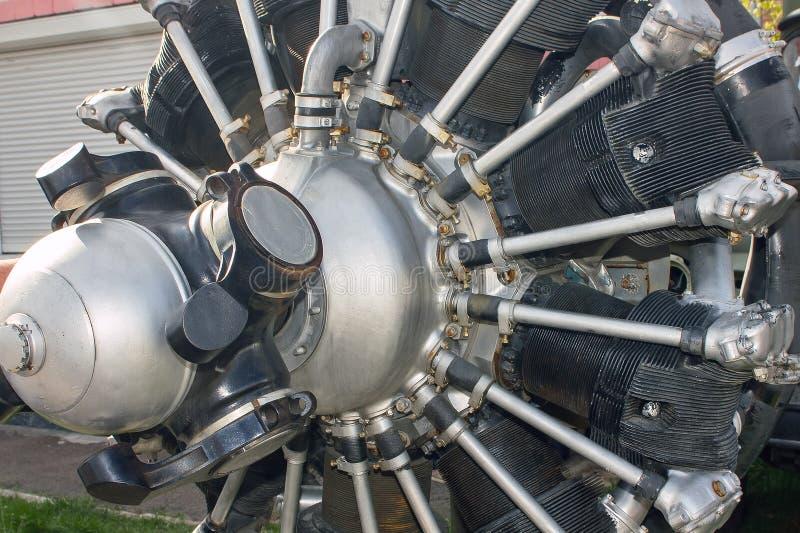 Klassisk flygplanmotor royaltyfri fotografi