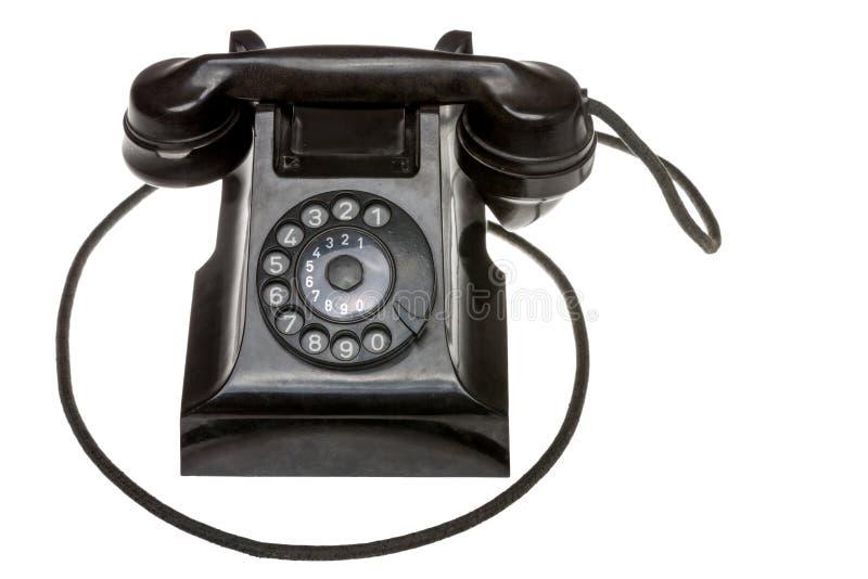 Klassisk gammal svart roterande visartavla-upptelefon royaltyfri foto