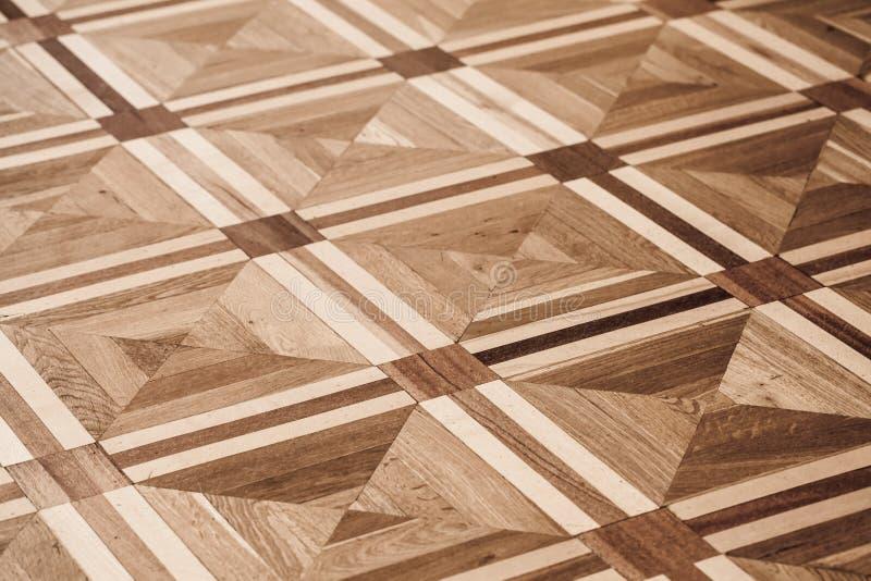 Klassisk gammal träparkettdesign arkivbilder