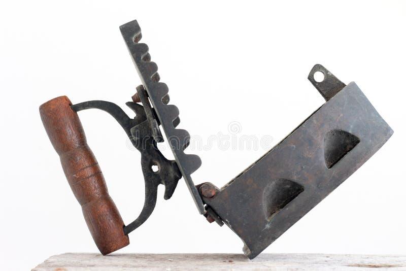 Klassisk gammal utrustning för antikt strykjärn arkivfoto