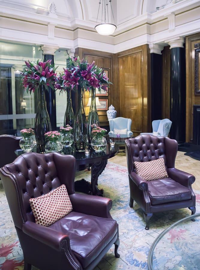 Klassisk hotellinre arkivfoto