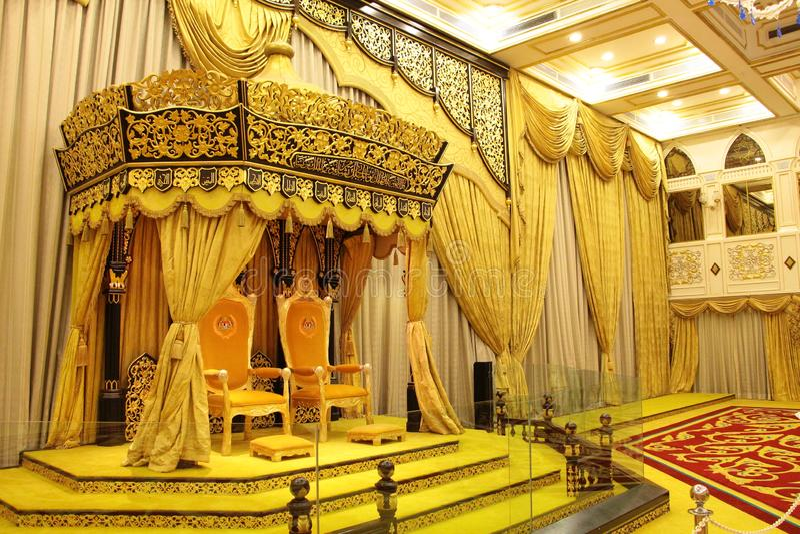 Klassisk inre Istana Negara, Jalan Tuanku Abdul Halim slottkunglig person arkivbild