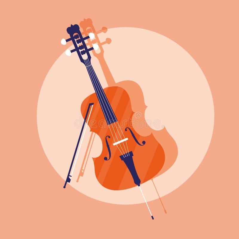 Klassisk instrumentsymbol för lurendrejeri royaltyfri illustrationer
