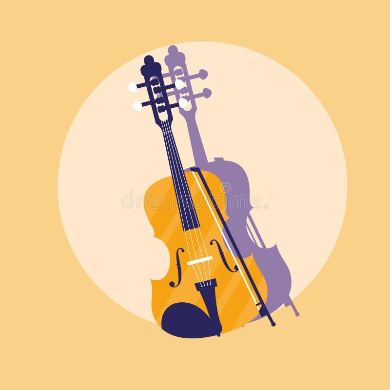 Klassisk instrumentsymbol för lurendrejeri vektor illustrationer