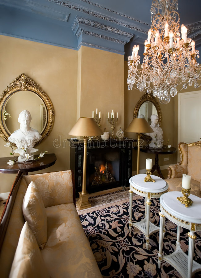 klassisk interior royaltyfria bilder