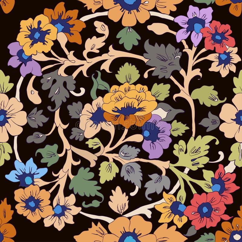 Klassisk islamisk blom- modell vektor illustrationer