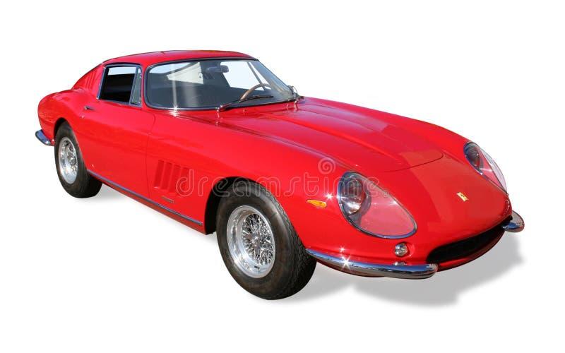 Klassisk isolerad Ferrari kupé royaltyfri bild
