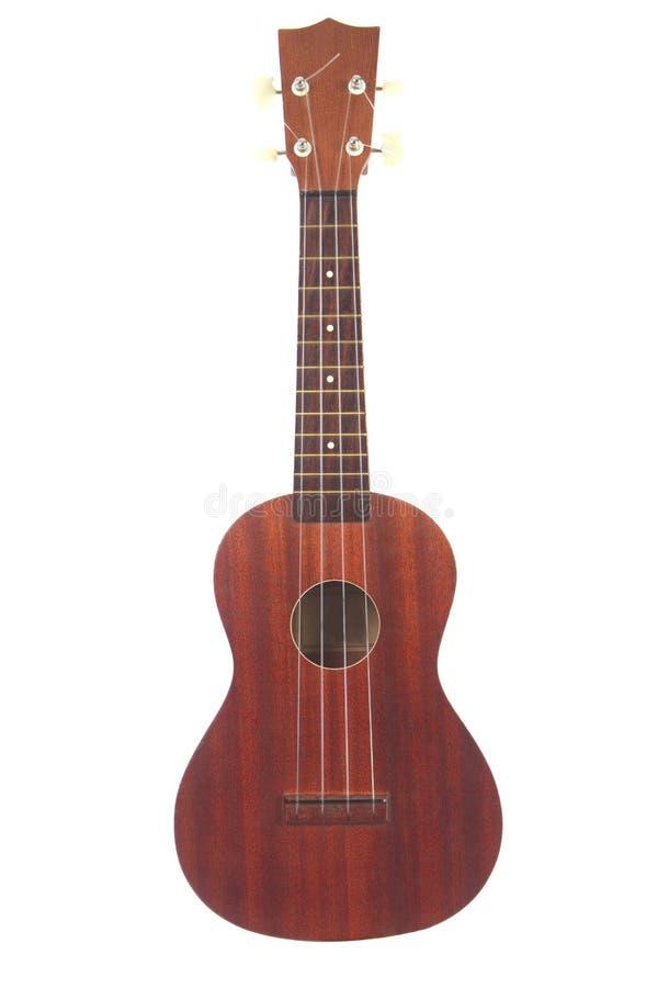 klassisk isolerad ukulelewhite för bakgrund arkivbilder