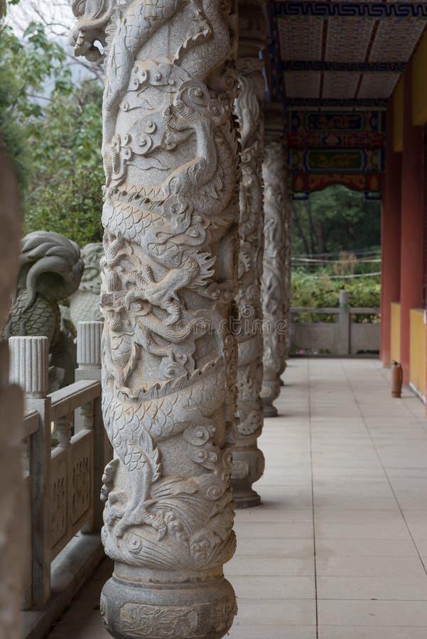 Klassisk kinesisk korridor arkivfoto