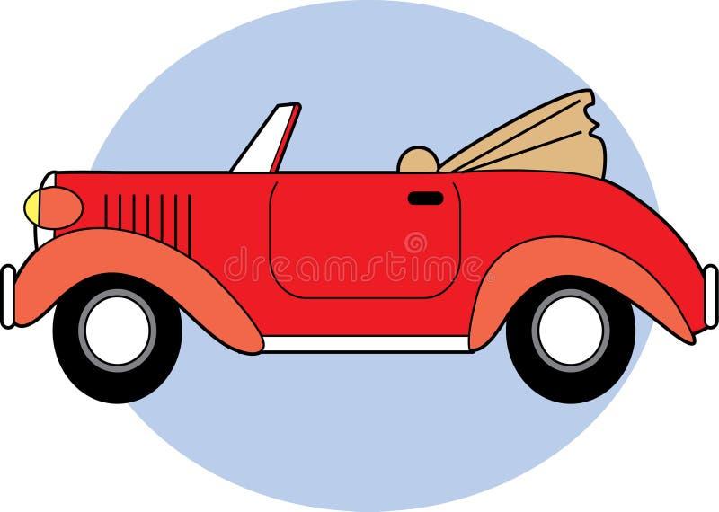 klassisk konvertibel red royaltyfri illustrationer