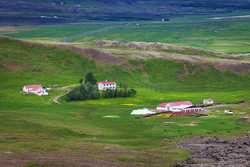 Klassisk lantgård på Island royaltyfri foto