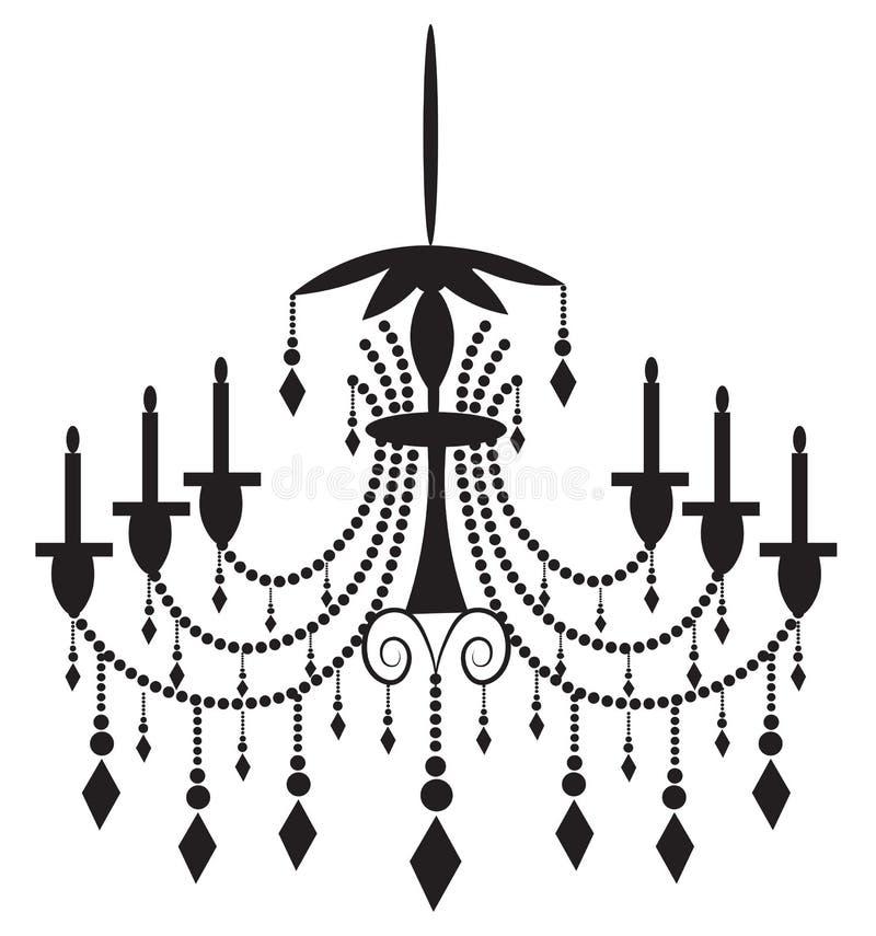 Klassisk ljuskrona på vit bakgrund vektor illustrationer