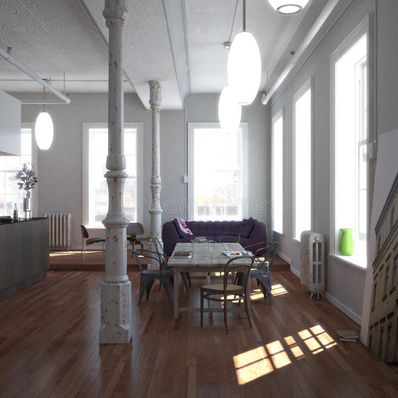 klassisk loft New York arkivbilder