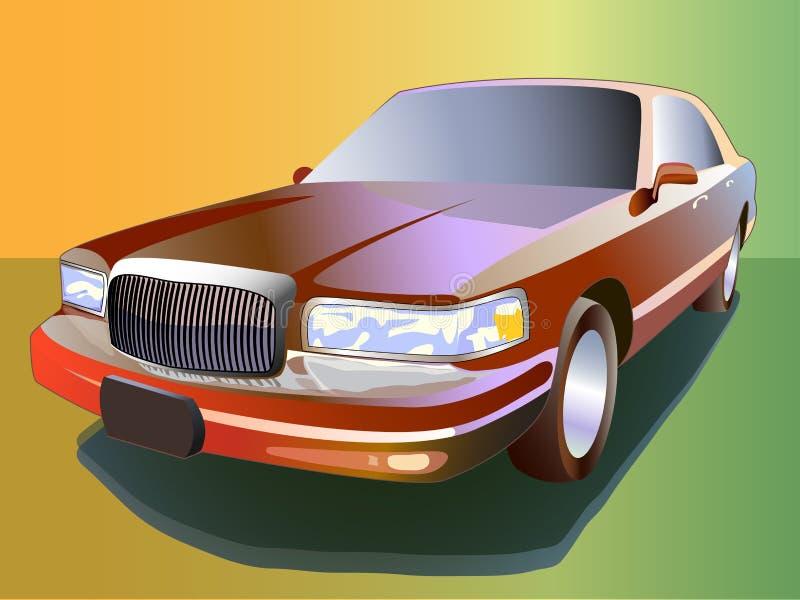 Klassisk lyxig bil vektor illustrationer